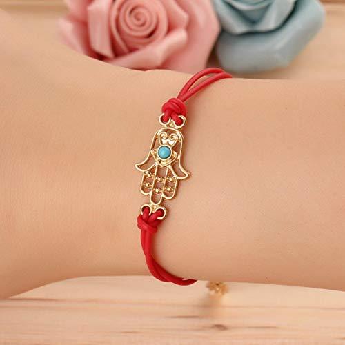 Evil Eye Bracelet Good Luck Charm Hamsa Hand Braided Rope Bracelet Adjustable Fashion Jewelry Perfect Gift