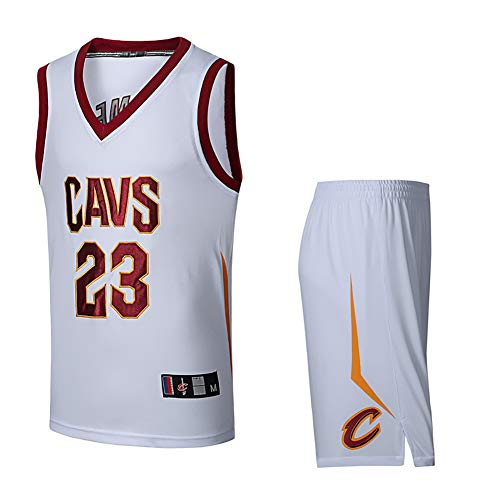 Men's and Women's Youth Basketball Uniforms, Suitable for: Lakers 23, Cavaliers 23, Basketball Jersey Suits, Quick-Drying, Breathable ()