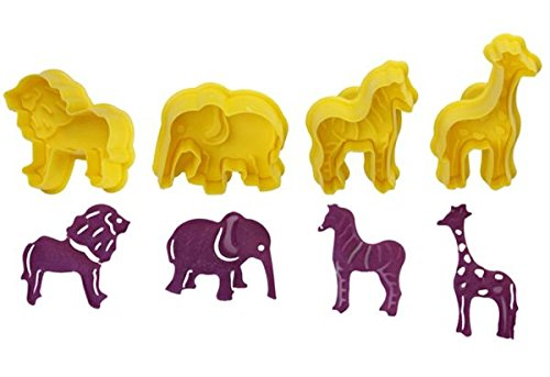 - Wild Jungle Animals Plunger Cookie Cutter 4 pc Set