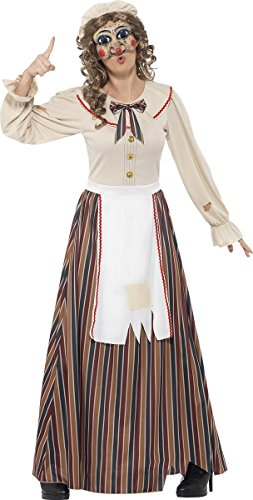 Smiffy's Women's Halloween Possessed Judy Costume, Dress, Hat and Latex Mask, Cirque Sinister, Halloween, Size 6-8, 45577