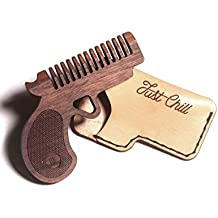 BAFFIN GOODS Wood Vintage Style Pocket Pistol wooden Comb Hair and Beard for Men and Women