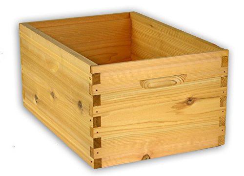 Arboria 8 Frame Deep Hive Box Budget Cedar Wood for Langstroth Beekeeping Made in USA, 14 x 19 x 9 Inches