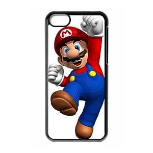 iPhone 5c Cell Phone Case Black Super Mario Bros Phone Case Cover DIY Plastic CZOIEQWMXN18106