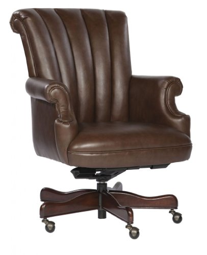 Furniture Hekman Chair Executive - Hekman Hekman Home Office Executive Tilt Swivel Ribbed Office Chair - Coffee
