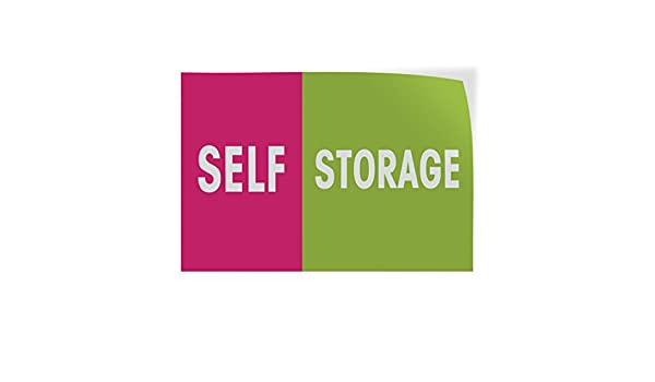 69inx46in Decal Sticker Multiple Sizes Self Storage #1 Business Self Storage Outdoor Store Sign Green Set of 2