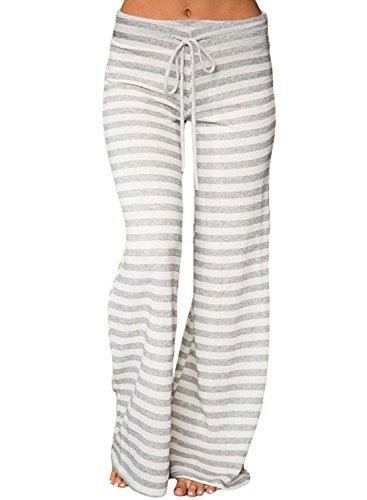 Striped Wide Leg Trousers - 7