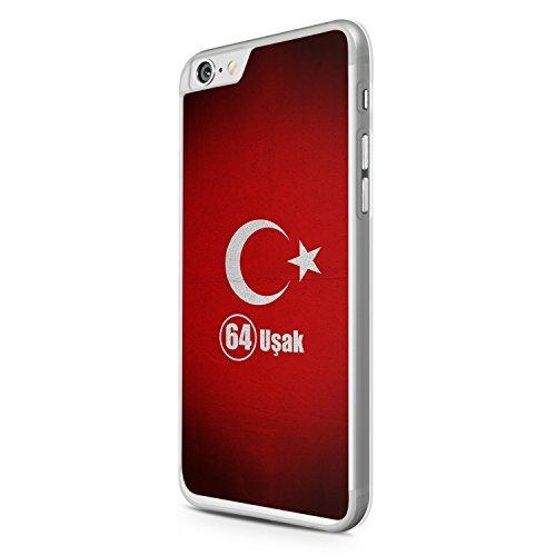 Usak 64 Türkiye Türkei iPhone 6 Hülle Cover Case Schale Tasche Turkey Bayrak