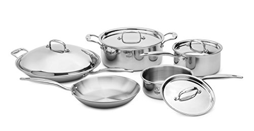 American Clad 7-Ply with 316Ti 9 Piece Cookware Set, Stainless Steel