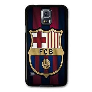 Personalizado teléfono funda por Samsung Galaxy S5 Color Negro barceona Número SERIUUUFG8438 Samsung Galaxy S5 funda