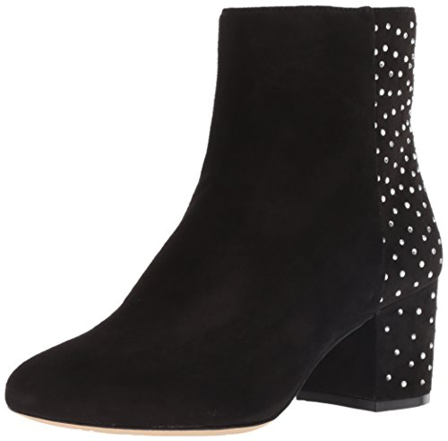 Nine West Women's QUAZILIA Suede Ankle Boot, Black, 6.5 M US