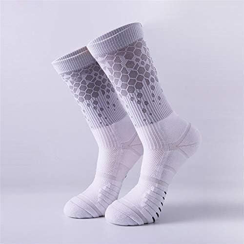 スポーツソックス 靴下 大人のスポーツソックス、新しいチューブバスケットボールソックス、ハニカムチューブ、バスケットボール、通気性と吸汗性 (Color : White, Size : One size)
