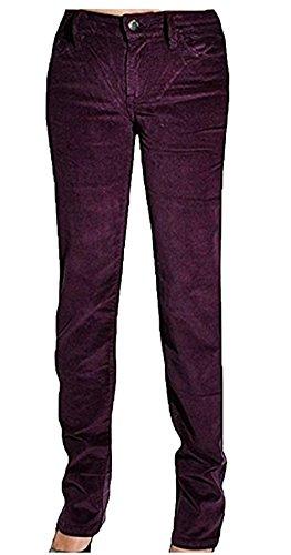 Fit Pants Corduroy Slim - Calvin Klein Womens Power Stretch Straight Leg Slim Fit Corduroy Pants (6 x 32L, Spiced Burgundy)
