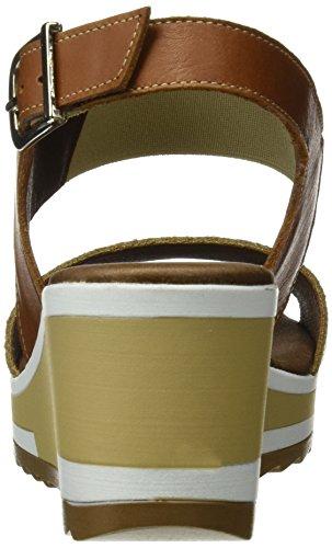 Tienda Calidad 11126, Sandalias con Plataforma para Mujer Varios colores (Dorado / Cuero)
