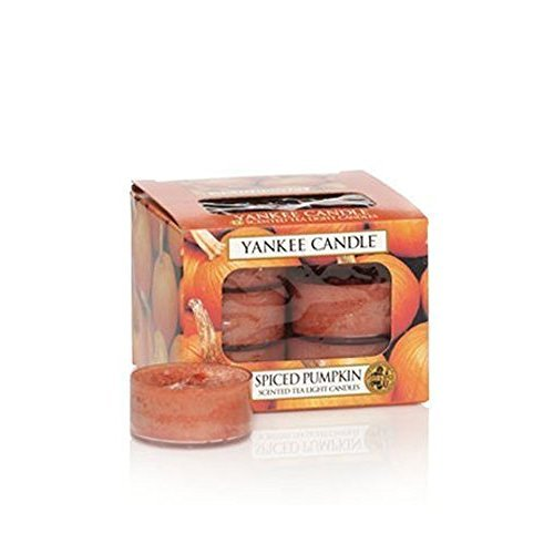 Spiced Pumpkin Yankee Candle Tea Lights - Set of 12