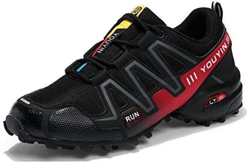 スニーカー ランニングシューズ 黒 軽量 クッション性 防滑 登山靴 メンズ スポーツ トレッキングシューズ 大きいサイズ 通気 衝撃吸収 耐磨耗 ウォーキングシューズ ハイキング 運動靴 ジム アウトドア 通勤 通学
