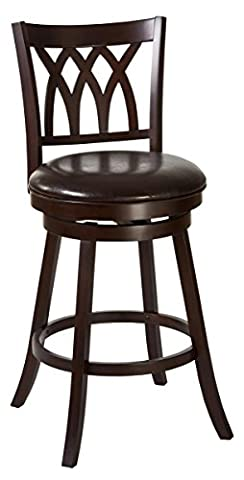 Hillsdale Furniture Tateswood Swivel Counter Stool, Cherry - Standard Height Cherry