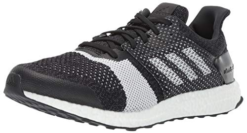 adidas Men's Ultraboost ST, Black/White/Carbon, 10.5 M US