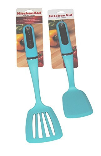 kitchenaid turquoise utensils - 5