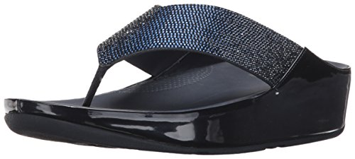 FitFlop Women's Crystall Flip Flop, Supernavy, 11 M US by FitFlop