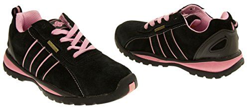 Territory Ottawa Cap Shoe Pink Steel Accredited Safety Northwest and Black Toe wA5qFwd