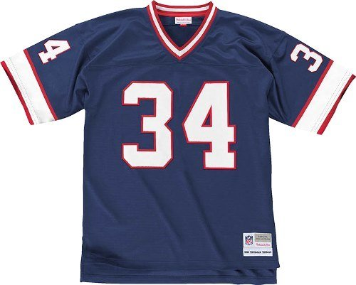 Buffalo Bills Mitchell & Ness 1990 Thurman Thomas # 34レプリカThrowbackジャージー B00GDF57TA   Medium