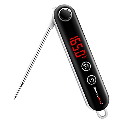 ThermoPro TP18 Ultra Fast Thermocouple Digital Instant Read Meat Thermometer for Grilling BBQ Smoker Kitchen Food Cooking Thermometer for Oil Deep Fry Candy Thermometer (Best Place To Probe A Turkey)