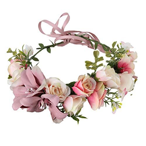 Handmade Adjustable Flower Wreath Headband Halo Floral Crown Garland Headpiece Wedding Festival Party (Photos Of Mother Of The Bride Dresses)