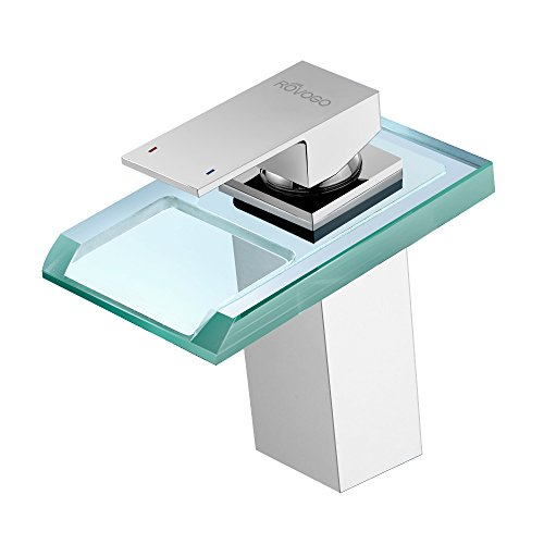 Waterfall Faucet With Led Light