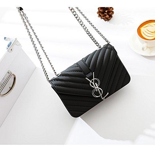 Fashion Messenger Frosted Ladies Bag 2018 Black Shoulder Mini Jelly Bag Chain Handbag Matte Bag Bag qUgzzdn