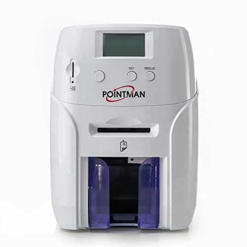 (Pointman Nuvia N20 Single Sided Card Printer With Card Stacker And Manual Feeder (Optional Dual Side Printing))