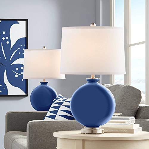 Monaco Blue Carrie Table Lamp Set of 2 - Color + Plus (Monaco Contemporary Table Lamp)
