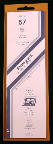 Showgard Strip Style Black Stamp Mounts Size 57 (Strip Stamp)