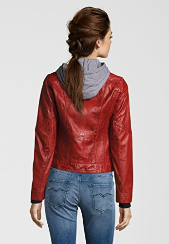 Montone Rosso Ah18 Pelle In Di Giacca Oakwood Donna BzFq11
