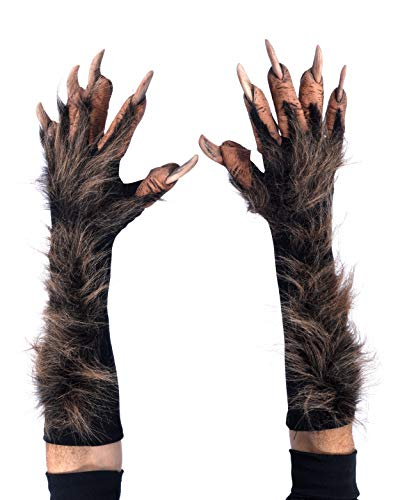 Zagone Studios Brown Furry Wolf Animal Gloves Hands