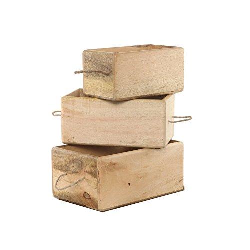Storage Bin Container Box Wood Kitchen Bathroom Organizer Wooden Holder Rustic