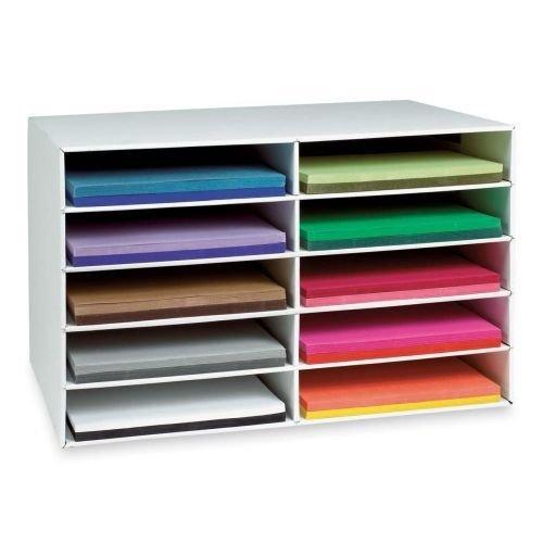 Pacon 10-shelf Construction Paper Storage Unit-Construction Paper Storage, 10 Slots, 16-78