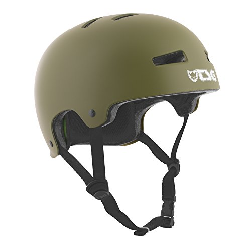 (TSG - Evolution Solid Color (Satin Olive, S/M 54-56 cm) Helmet for Bicycle Skateboard )