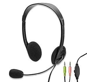 Ewent EW3563 - Auriculares de diadema abiertos (con micrófono)
