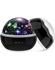 EUCOCO Sterrenhemel projector nachtlampje kinderen - 360° draaiing/USB of batterijvoeding - baby speelgoed cadeau voor kinderen