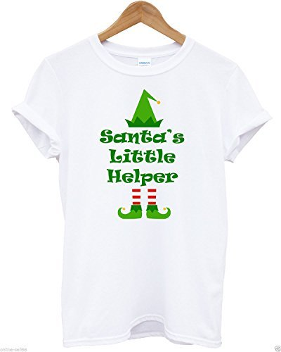 Inct Men's Santa'S Little Helper T-Shirt X-Large White