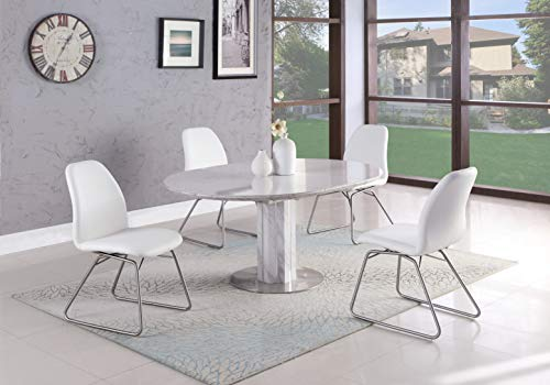 - Milan AMY-5PC-WHT Amy 5PC Dining Set, 5-Piece, White