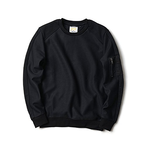 Lisux männer - Casual Mode Pullover auf alle mit Rollkragen - Pullover männer fest,schwarz,XXL