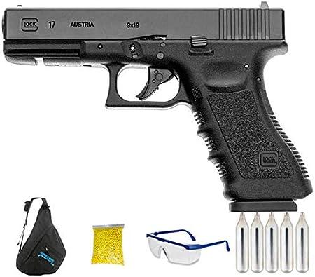 Umarex Glock 17 | Pistola de Airsoft Calibre 6mm (Arma Aire Suave de Bolas de plástico o PVC). Sistema: CO2 <3,5J