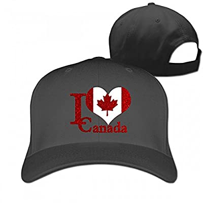 I Love Canada Casquette Cotton Baseball Cap Hat Plain Low Profile