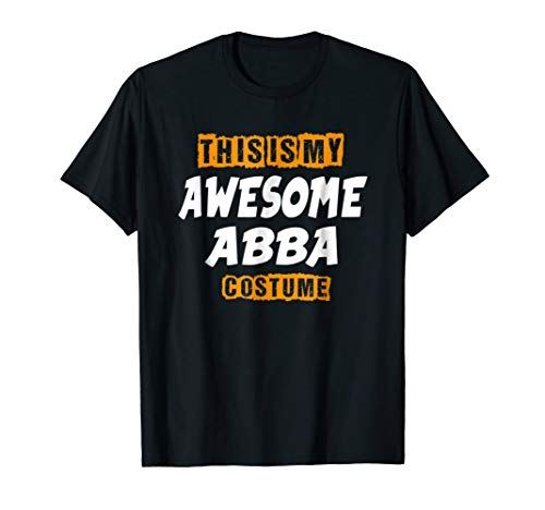 Mens Awesome Abba Costume Shirt, Funny Cute Halloween Gift