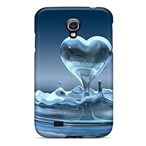 Anti-scratch And Shatterproof Water Heart Phone Case For Galaxy S4/ High Quality Tpu Case