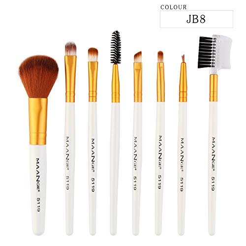 - CCatyam Makeup Brushes Set, 8 pcs Foundation Eyebrow Eyeliner Blush Cosmetic Concealer Brushes Handle Tool Kit