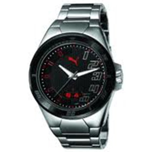 Puma Countdown Black Bial Black PVD Bezel Mens Watch PU102261004