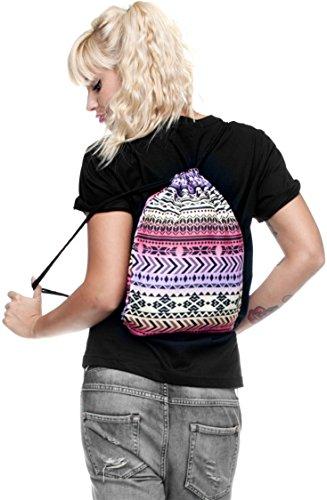 Shoulder Gym Pink Print Backpack Ababalaya Bags 3D Rucksack Drawstring Aztec Bag qXwx70S