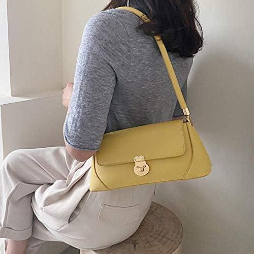 YANMMX Hand Bag Estate Borse di Borse di Modo Selvaggio Spalla Black Yellow